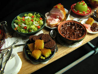 New England church supper by GoddessofChocolate