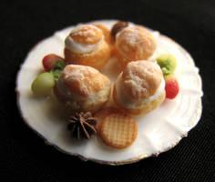 Miniature Cream Puffs by GoddessofChocolate
