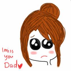 Man oohs missing her dad by AL-ASTOORH