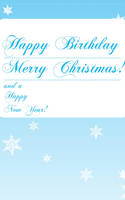 Happy Birthday Christmas Card by rayzong