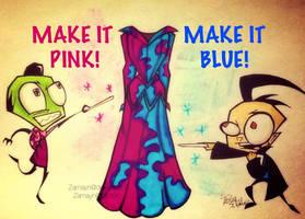 MAKE IT PINK! MAKE IT BLUE! by Zamayn