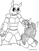 BAM 01 Illo:  1st Mechanoid by davidfoxfire