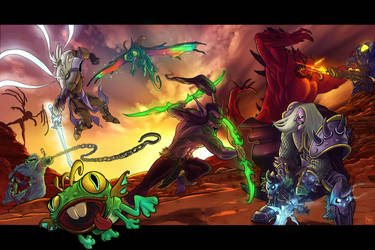 Heroes of the Storm by Archmage-sketch