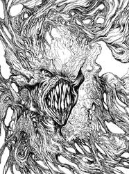 Monster's Face by Xenomorph71