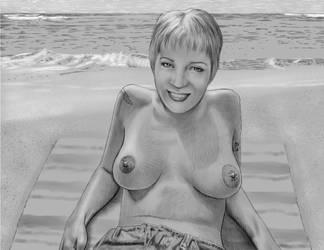 Topless Beach by Xenomorph71