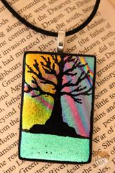 Dichroic tree Pendant 003 by Dimolicious