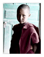 portrait of the young monk by SLavaShi