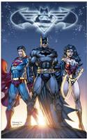 DC Comics Trinity by sinccolor