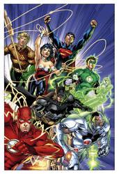 nu52 Justice League by sinccolor