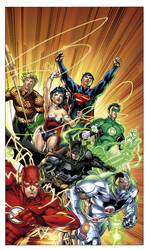 Justice League No.1 Combo CVR by sinccolor