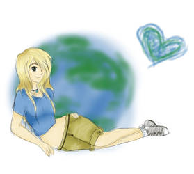 Earth heart by tintedslightly
