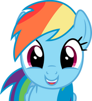 Rainbow Dash is happy by Skie-Vinyl