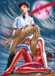 Evangelion - New Adam and Eve by borba