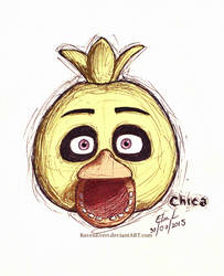 Chica Sketch by RavenEvert
