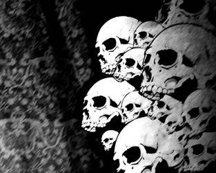 Dark Skulls Wallpaper by DecapRecap