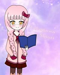 [OC] Shiori-tan - The Bookworm Girl by ninaanime