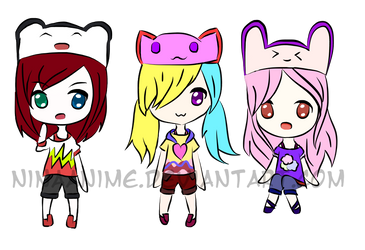 [OPEN - Name Your Price] - Sketchy Chibi Adopts 2 by ninaanime