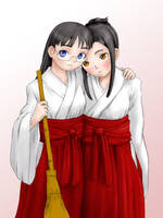 Shrine Maidens by IndustrialComics