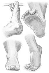 Sketch practice - foot 2 by Loulin