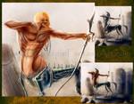 Centaur Muscle Anatomy Study + Video Tutorial Link by Yarkspiri