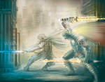 Futuristic Sword Battle = Video Link by Yarkspiri