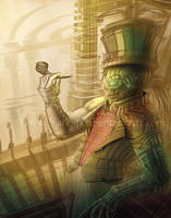 Steampunk Cyborg by Yarkspiri