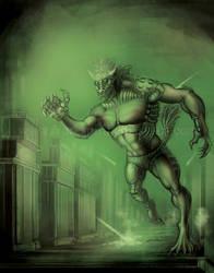 Steampunk Werewolf by Yarkspiri