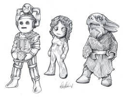 Classic Who Chibis by Marker-Mistress