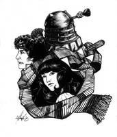 Doctor - Dalek - Sarah Jane by Marker-Mistress