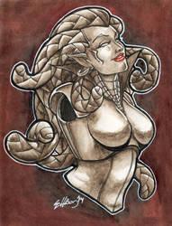 Sariel - Bust by Marker-Mistress