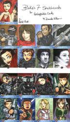 Blake's 7 Sketchcards - Part 2 by Marker-Mistress