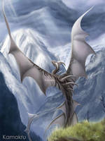 The Mountaintop Dragon by Kamakru