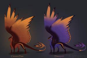 Dragon Adopts: Broadwings - dark - 1/2 - ALL TAKEN by Kamakru