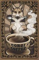 Corgi Coffee by Kamakru