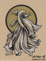 Inktober #18 2015 - The Betta Fish by Kamakru