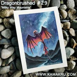 Dragonbrushed #29 - Milky Way Mountains by Kamakru