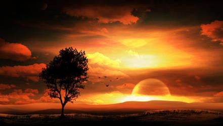 PSP Wallpaper Sunset by jonmusk