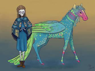 Me and My Alebrije by Belle-Skies