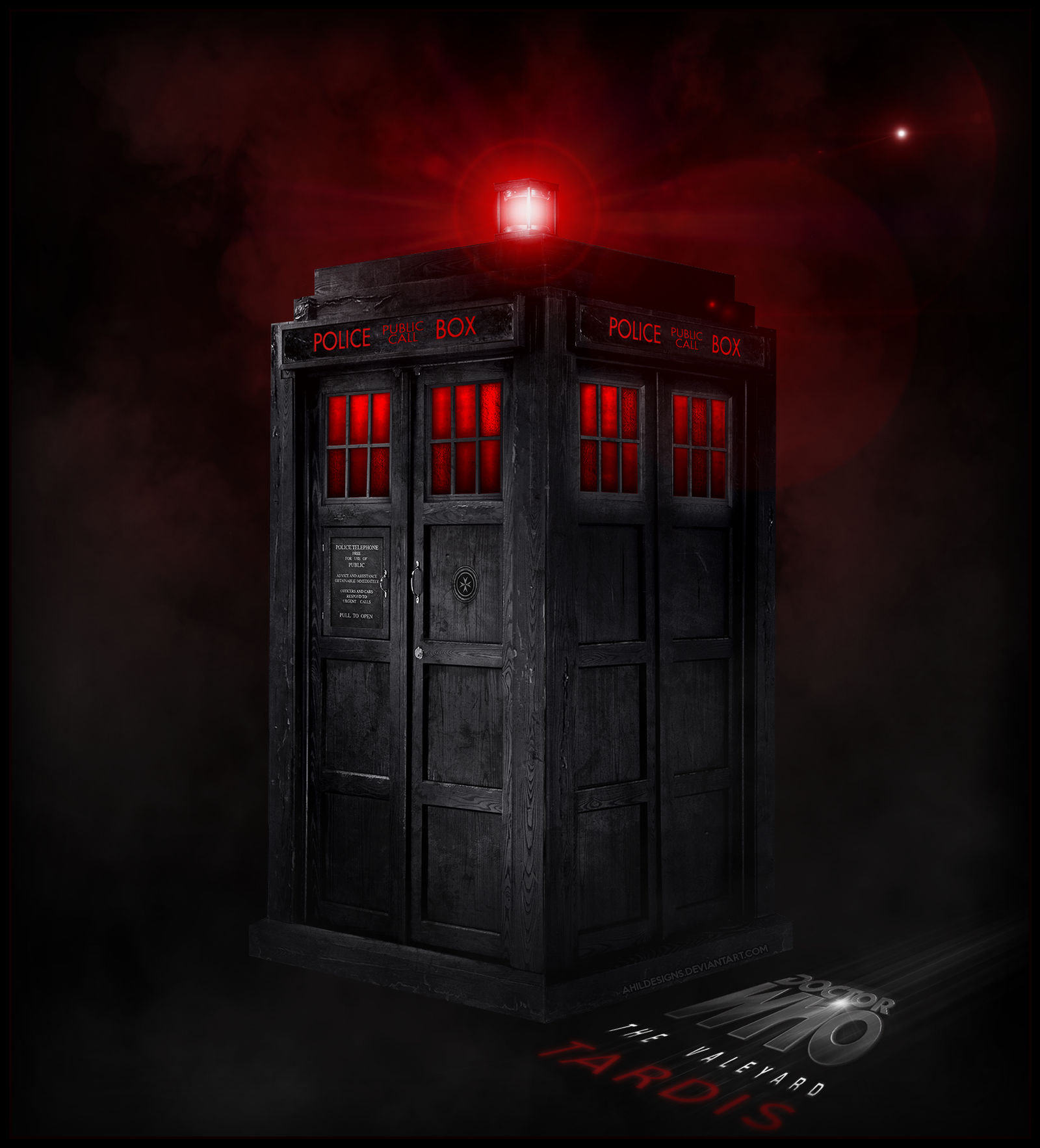 The Valeyard's Black TARDIS by AHiLdesigns