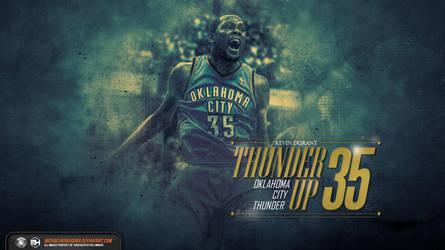 Kevin Durant Thunder Up wallpaper by michaelherradura