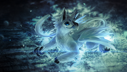 Little Gryphon by cat-meff