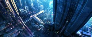 Sci-fi City by cat-meff