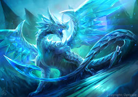 The Legendary Crystal Dragon - Opticale by cat-meff