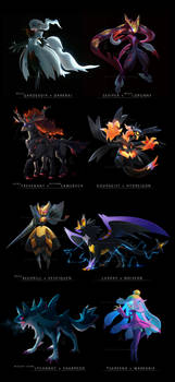 Pokemon Fusions 2017 by cat-meff