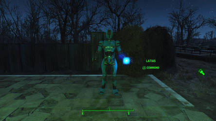 My gf in fallout 4 assaultron by willykururu
