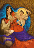 Nativity Christmas Card by Alene