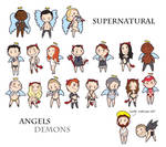 Supernatural Angels and Demons by humon