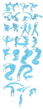 Li's original water bending form by KRIIZILLA