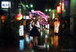 rain in the night by elianeck