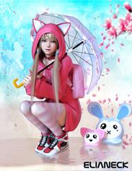 Doa Marie rose rain day... by elianeck